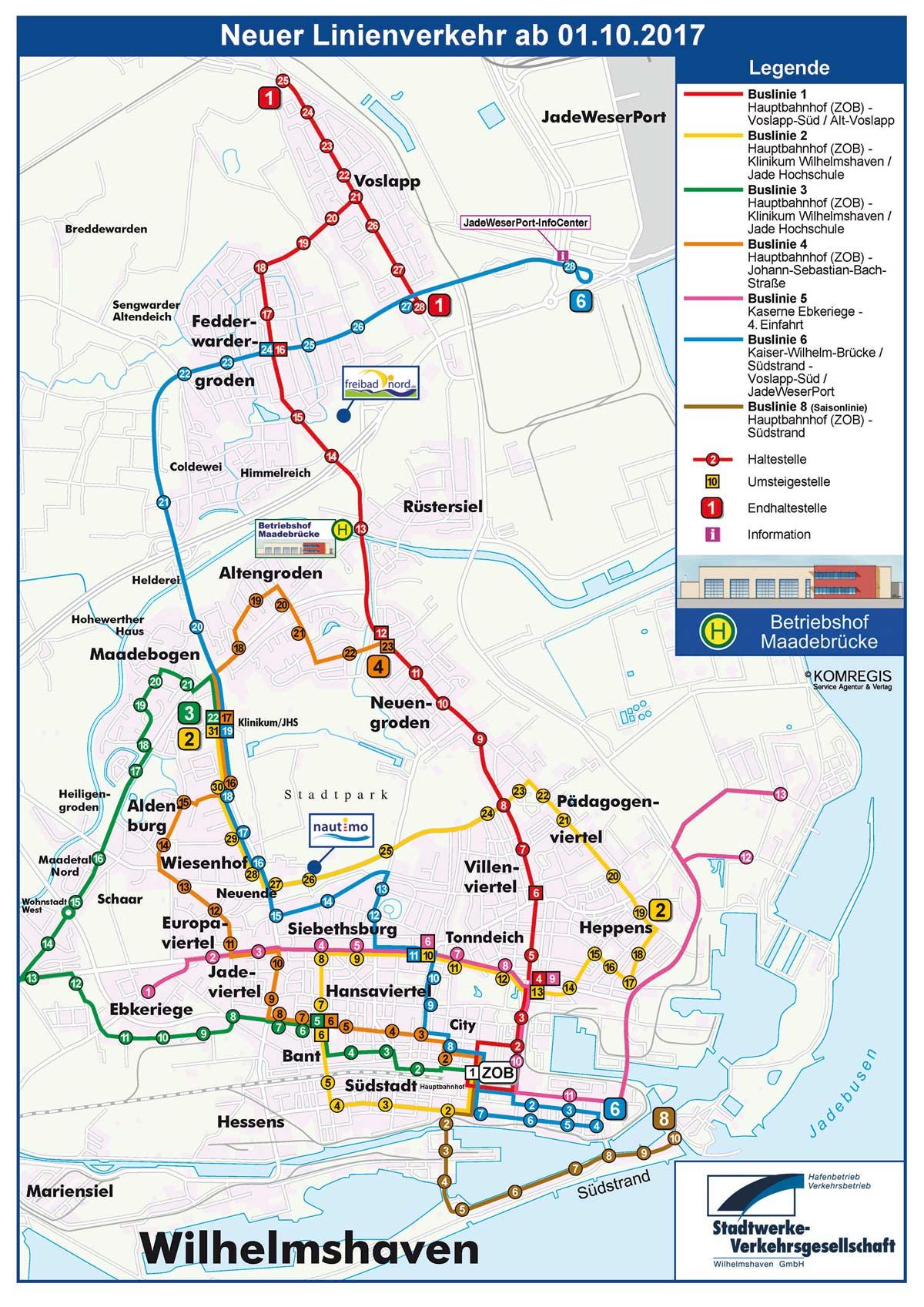 Liniennetzplan ab 01.10.2017