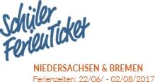Schülerferienticket in Niedersachsen und Bremen 2017